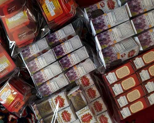 سفارش زعفران بسته بندی اذین و اطلسی