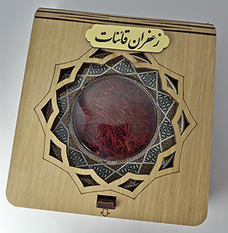 یک مثقالی خاتم جعبه چوبی زعفران